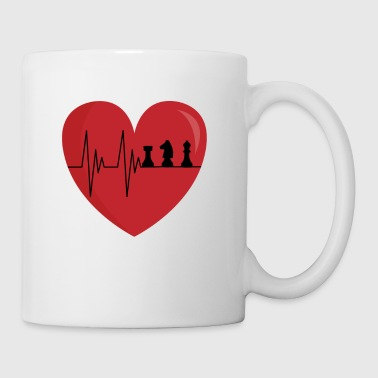 Chess Heartbeat Gamers Chess Player Gift - Mug