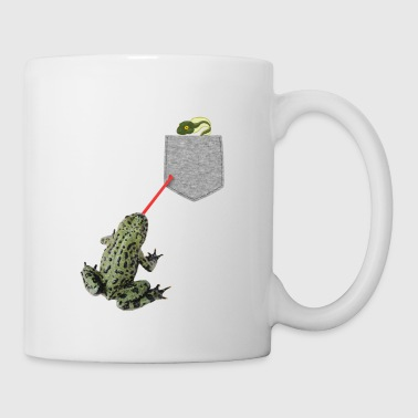 Frog Tongue Reaching For Tadpole In Your Fake - Mug