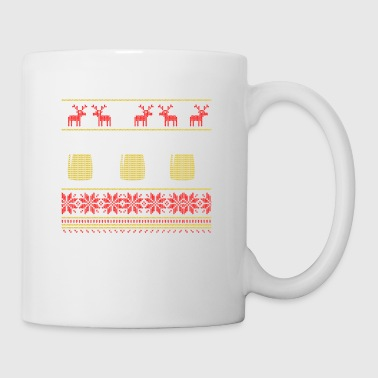 Funny Christmas Ugly Sweater Happy New Beer - Tasse