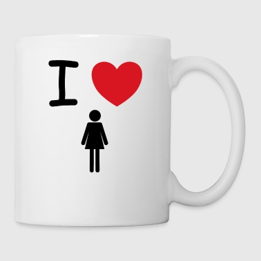 I love women gift idea - Mug