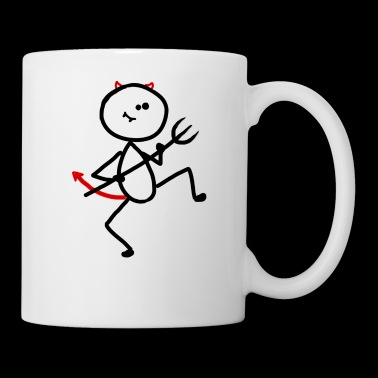 Devil stick figure devil horns cock - Mug