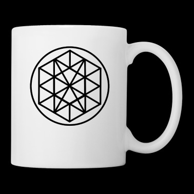 Cool pentagon with triangular pattern - Mug