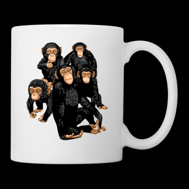 Five Cute Monkey's T-Paita - Funny Little Ape - Muki