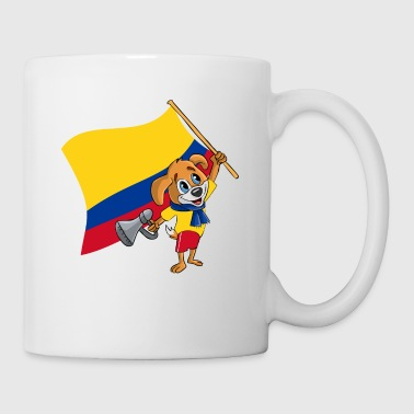Colombie fan chien - Mug blanc