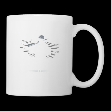 Travailleur de la construction · Chantier de construction · Excavatrice · Real Men - Mug blanc