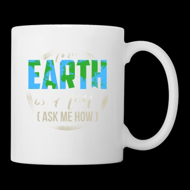 The Earth Is Flat Karte Society Geschenk T-Shirt - Tasse