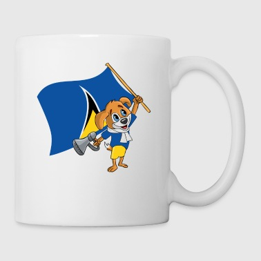 St. Lucia fan dog - Mug