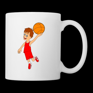 Dunk cartoon basketball boy gift idea - Mug
