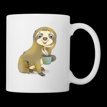 Sloth with Coffee Gift Cartoon Kawaii - Mok