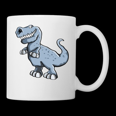 Fat Dino Dinosaur Comic Gift - Tazza