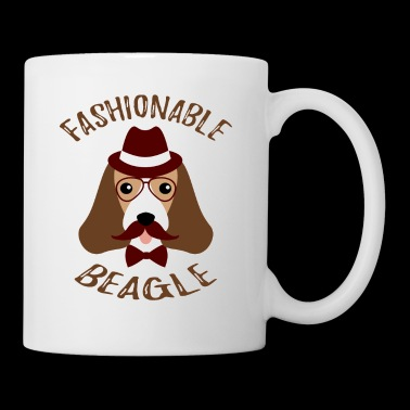 Fashionable Beagle Hiper Vintage Funny Dog - Taza