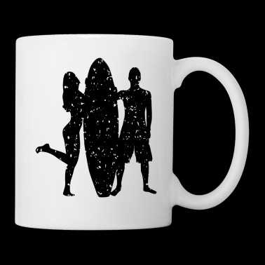 Surfer couple logo - Mug