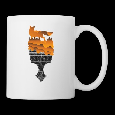 Gift Silhouette Fox Wolf Forest Hunting Wilderness - Mug