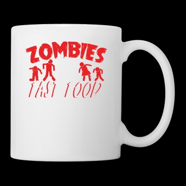 Zombies Hates FastFood T-Shirt - Tasse
