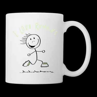 I Love Running Stick Figure - Runner - Tazza