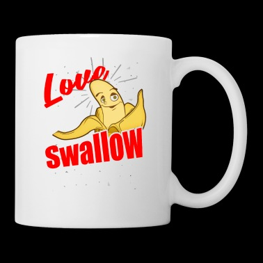 Banana swallow - banana - bubbles - love - Mug