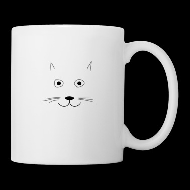 Chaton mignon - dessin simple - Mug blanc