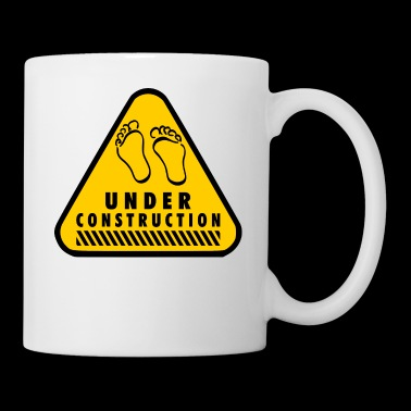 UNDER CONSTRUCTION Schwanger Baby Babybauch Mutter - Tasse