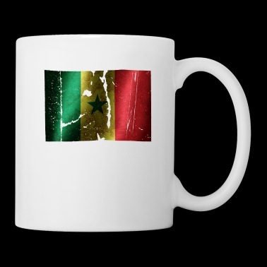 Senegal flag cool vintage used sport look - Mug