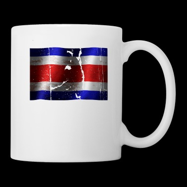 Costa Rica flag cool vintage used sport look - Mug
