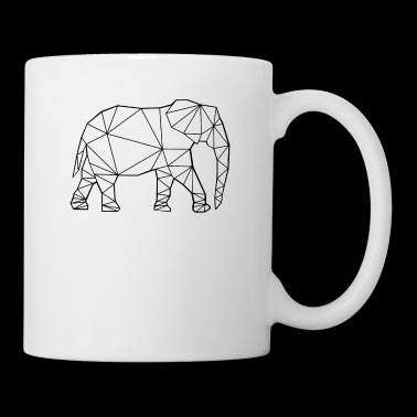 Elephant in polygon design - Mug