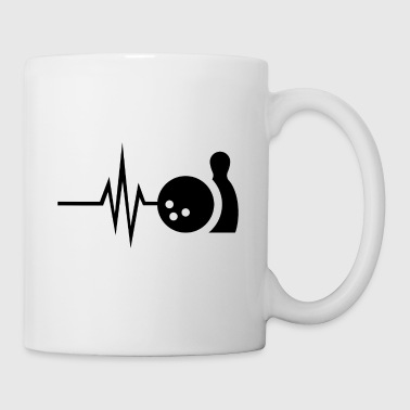 My heart beats for bowling - skittles Strike Pin - Mug