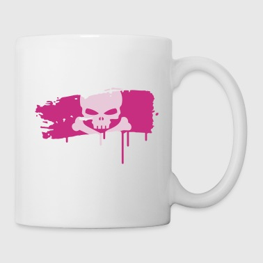 pirate flag painted with a brush stroke - Mug