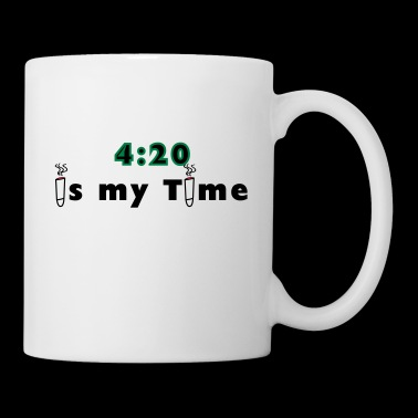 420 is my time grass cannabis gift idea - Mug