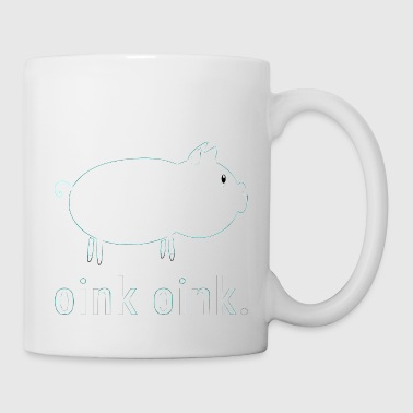 Dolce bianco piggy - oink oink. - Tazza