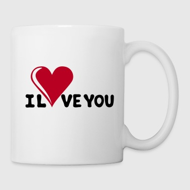 I LOVE YOU - Romantiek - Valentijnsdag - Hart - cadeau - Mok