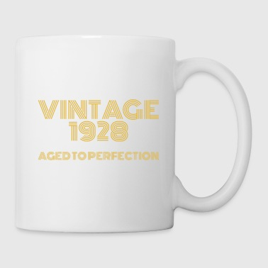 Vintage Pop Art 1928 Birthday. Aged to perfection. - Mug