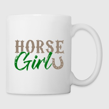 Horse Girl - Horse Girl Riding Horseshoe - Mug