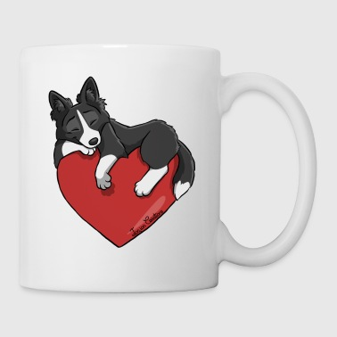 Border Collie Black Heart - Mok