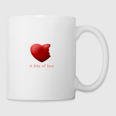 Heart bite of love. Nice and cute design - Mug