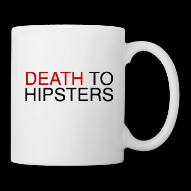 muerte a los hipsters - Taza