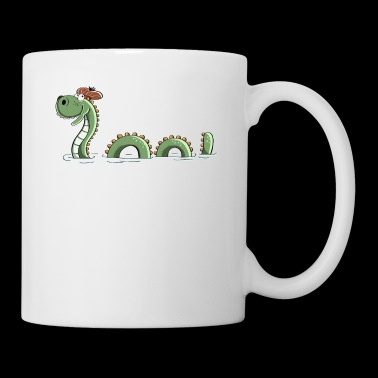 Nessie Sea Monster In Scotland - Comic - Fun - Mug