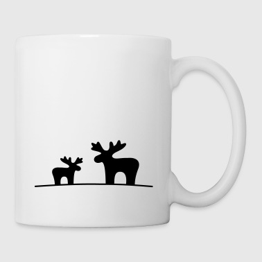 Moose couple - Mug