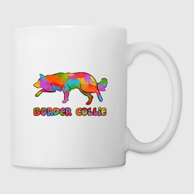 Border Collie Rainbow sky - Mug