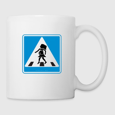 Traffic sign: Pregnancy blue / pregnancy blue - Mug