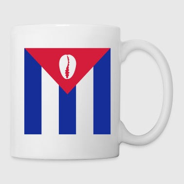 Cuban flag with orisha shell - white / white - Mug