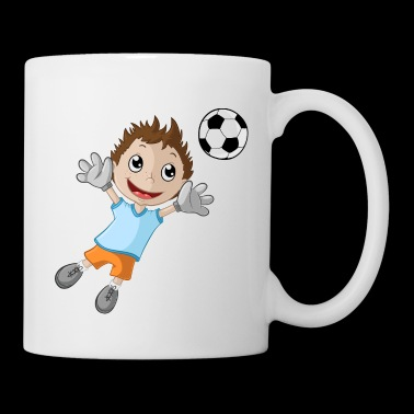 Little goalkeeper boy - Mug