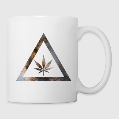 Galaxy Weed Cannabis Geometry Triangle - Mugg