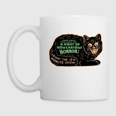 Vintage Halloween Black Cat Night of Horror - Mug
