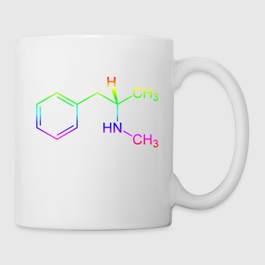 Methamphetamine Crystal Meth formule structurelle - Mug blanc