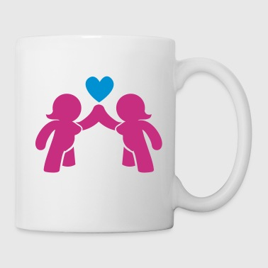 naked Woman and women love lesbian  - Mug