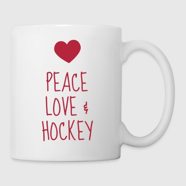 Hockey - Cross - Eishockey - Skater - Ice Hockey - Mug blanc