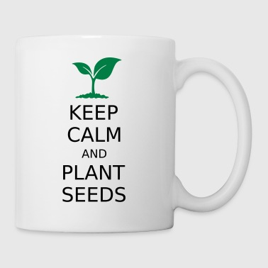 Keep Calm og plante frø - Kopp