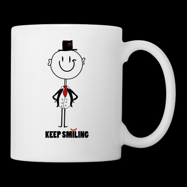 keep smiling - Tasse