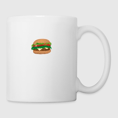 Stuffed sandwich cheese, tomato, salad - Mug