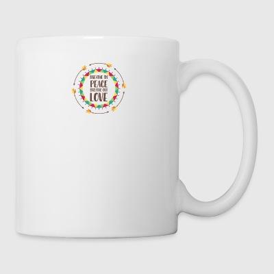 Hippie / Hippies: Breathe in peace. Breathe out - Tasse